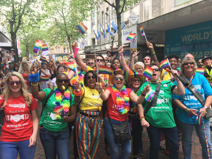 Pride march in 2019