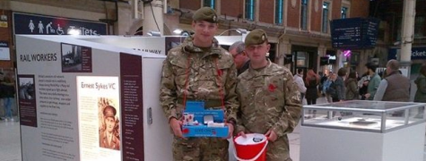 Poppy collectors at Manchester Piccadilly