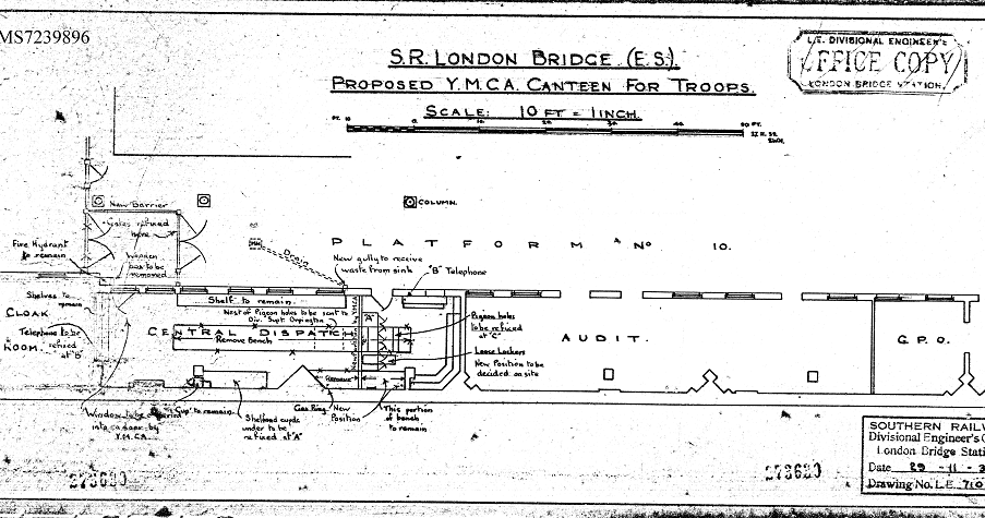 Canteen plans for troops at London Bridge Station